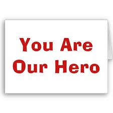 U bent onze held